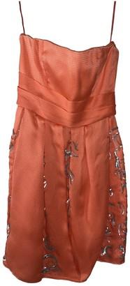 Oscar de la Renta Orange Lace Dress for Women