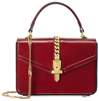 Gucci MINI SYLVIE PATENT LEATHER BAG