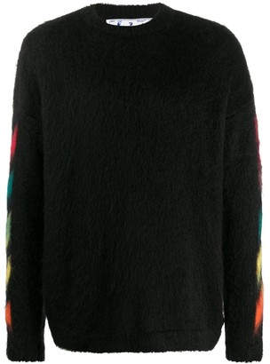 Off-White Brushed Mohair Sweater Black