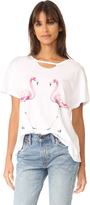 Wildfox Couture Two Flamingos Tee