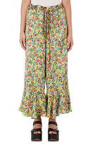 BY. Bonnie Young Women's Floral Silk Ruffle Pants