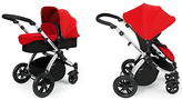 Ickle Bubba V2 2 in 1 Pushchair - Red and Silver