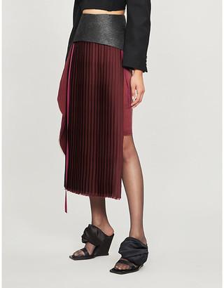 Omer Asim Harazza asymmetric woven skirt
