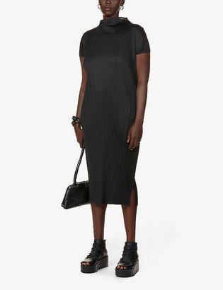 Pleats Please Issey Miyake Monthly pleated woven midi dress
