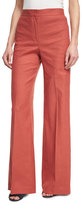 Theory Terena High-Waist Wide-Leg Pants, Red