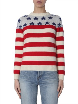Saint Laurent Flag Knitted Pullover