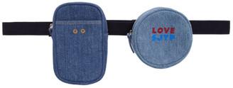 Sjyp Blue Love Belt Pocket Bag