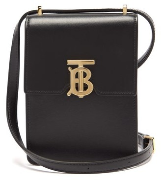 Burberry Valencia Mini Leather Cross-body Bag - Black