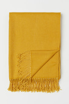 H&M Jacquard-weave Throw - Yellow
