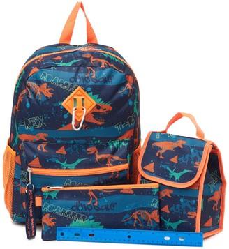 Dinosaur Print Backpack, Lunch Bag & Pencil Bag Set