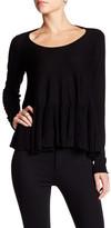 Max Studio Long Sleeve Peplum Sweater