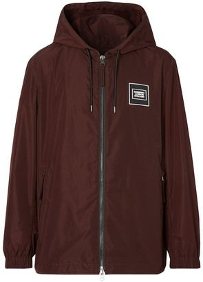 Burberry Logo-Patch Hooded Jacket