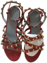 Balenciaga Red Leather Sandals