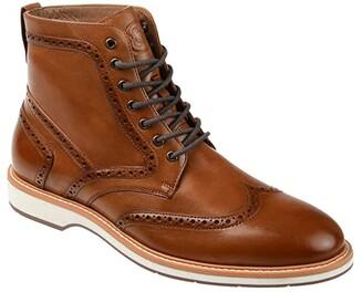 Thomas & Vine Enzzo Wing Tip Boot (Cognac) Men's Shoes