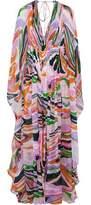 Emilio Pucci Printed Silk-Chiffon Maxi Dress