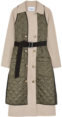 H2ofagerholt Lolcon panelled cotton trench coat