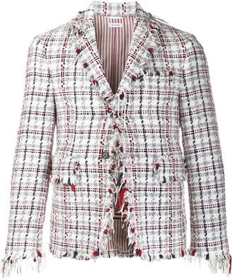 Thom Browne Tweed Checked Blazer
