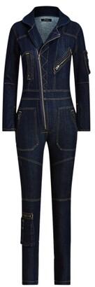 Ralph Lauren Denim Zip-Front Flight Suit
