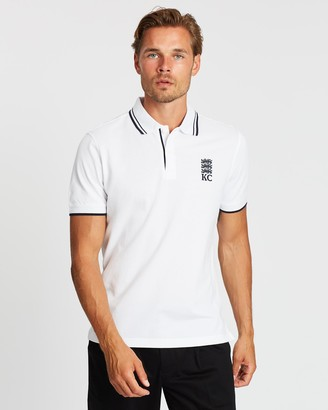 Kent And Curwen Striped Lining Three Lions Polo