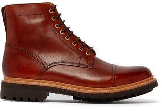 Grenson Joseph Lace Up Leather Boots - Mens - Brown