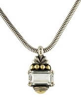 Lagos Two-Tone White Topaz Pendant Necklace