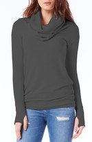 Michael Stars Thumbhole Cuff Cowl Neck Sweater