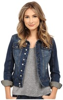 Blank NYC Distressed Denim Jacket in Toe Jam Women's Coat