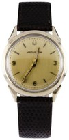Bulova Accutron Brown Leather Band & Champagne Dial Vintage 34mm Mens Watch