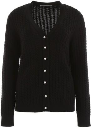 Alessandra Rich V-Neck Knitted Cardigan