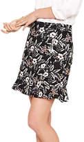 Oasis Tropical Flower Ruffle Skirt, Multi