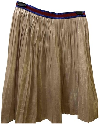 Gucci Gold Polyester Skirts