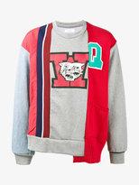Facetasm multi-panel sweatshirt