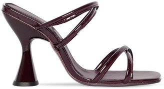 Dorateymur 100mm Stainless Patent Leather Sandals