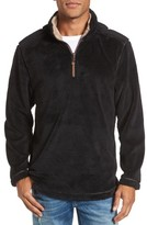 True Grit Men's Pebble Pile Faux Fur Half Zip Pullover