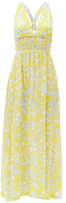 Heidi Klein Floral-print Silk-crepe Maxi Dress - Yellow Print