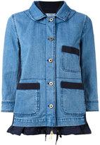 Moncler Houx denim jacket - women - Cotton/Polyamide/Polyester - 3