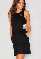 Missy Empire Zelma Black Cord Pinafore Dress