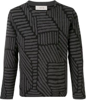 Cerruti Geometric-Pattern Wool Jumper