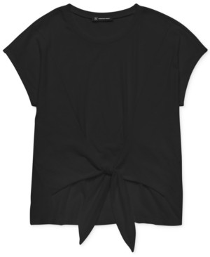 INC International Concepts Inc Cotton Tie-Front T-Shirt, Created for Macy's