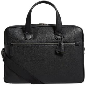 Graf Von Faber Castell Graf Von Faber-Castell Leather Cashmere Double Compartment Briefcase