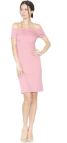 Alice + Olivia Dusty Rose Aleah Fitted Off The Shoulder Dress