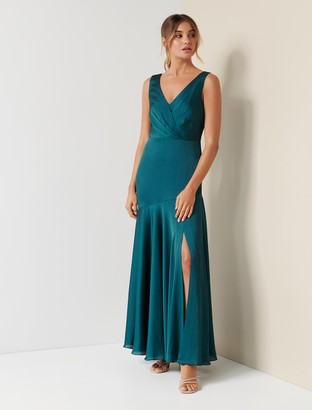 Forever New Marcella Satin Maxi Dress - Sacramento - 10