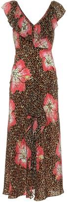 Rixo Antoinette printed silk dress