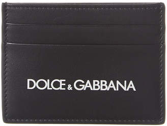 Dolce & Gabbana Logo Leather Card Holder