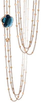 Pasquale Bruni Bon Ton 18K Rose Gold, Topaz & Diamond Chain Necklace