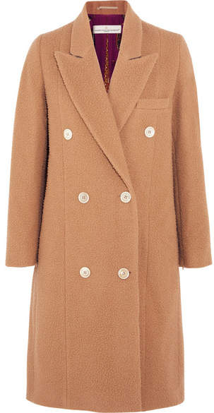 Golden Goose Nina Double-breasted Textured-wool Coat - Camel