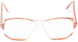 Yves Saint Laurent Pre Owned Marbled Glasses