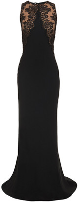 Stella McCartney Lace-paneled Stretch-crepe Gown