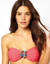 South Beach Multi Jewel Padded Bandeau Bikini Top