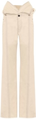 Y/Project High-rise straight fit cotton pants